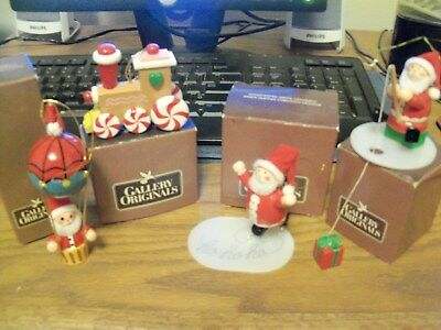 Vintage - Set Of Four - Avon - Wooden - Handpainted - Christmas Tree Ornaments