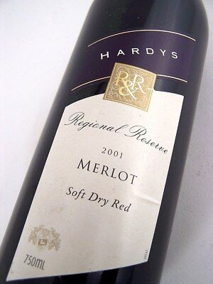 2001 HARDYS RR Merlot Isle of Wine