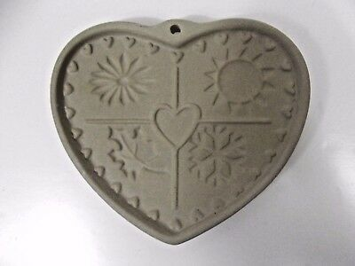 1997 Pampered Chef Seasons of the Heart Cookie Mold NEW