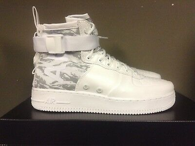 """detailed look 5d399 6160d NIKE SF-AF1 MID """"Winter Camo"""" White/Reflect Silver AA1129-100 NEW 2017  SHIPS NOW"""