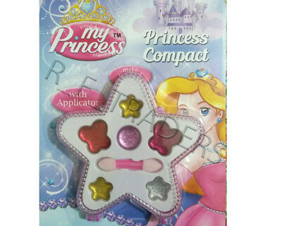 Kid Girl Children Teen My Princess Compact Glitter Gloss Make Up Set Applicator