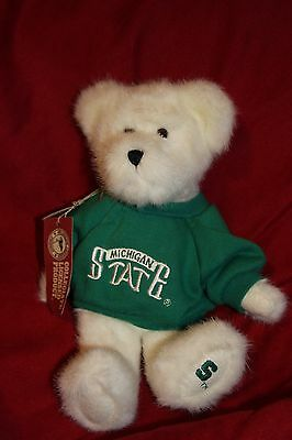 Boyds Bears Plush - Michigan State Sparty Bear in Green Sweatshirt - NEW W/Tags!