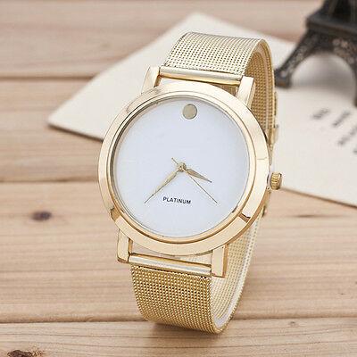 New Fashion Explosion Women Ladies Simple New Gold Network Watch
