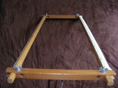 "PORTABLE TIMBER FRAME for Tapestry Cross-Stitch Embroidery.Small-Medium 20""-51cm"