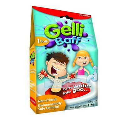 Gelli Baff Turn Bath Water into Goo 100% Safe Lava Blast Red Non Irritant