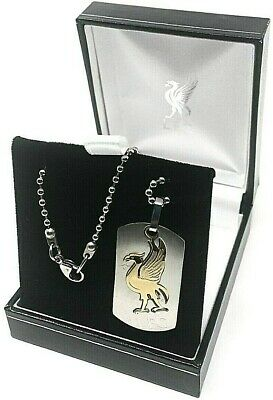 Liverpool Fc Stainless Cut Out Colour Crest Dog Tag Chain Pendant Necklace Lfc