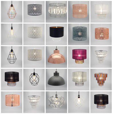 Modern Chandelier Style Ceiling Pendant Light Lamp Shade Acrylic Droplet Bead