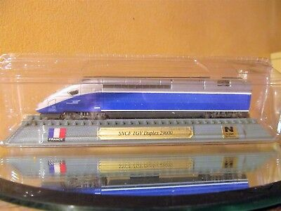 "Boxed Del Prado Train engine collection. ""France"" SNCF TRV Duplex 29000 1:160"