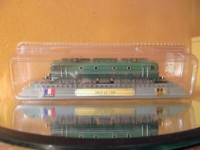 "Boxed Del Prado Train engine collection. ""France"" SNCF CC 7100. Engine 1:160"