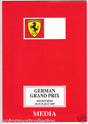 Original Ferrari Media Follder # German Grand Prix Hockenheim 2000 # Schumacher