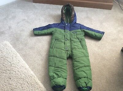 Baby Baker Ted Baker Boys Snowsuit All In One 6/9 Months Winter Warm. Cute