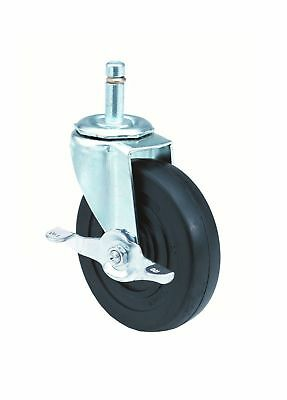 E.R. Wagner Stem Caster Swivel with Pinch Brake Polyolefin Wheel Plain Bearin...