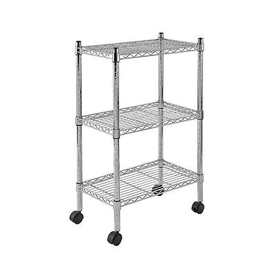 """Sandusky MWS221333 3-Tier Mobile Wire Shelving Unit with 2"""" Nylon Casters 3 W..."""