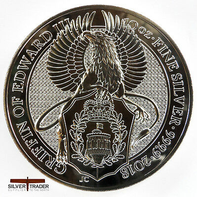 2018 10oz Queens Beasts Griffin 10 ounce Silver Bullion Coin unc: