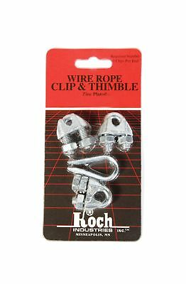 Koch Industries 143021 Wire Rope Clip and Thimble Pack 3-Clips with Thimble 1...