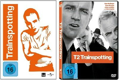 DVD SET Trainspotting 1+2, T1, T2, neu, deutsch, Ewan McGregor, Danny Boyle