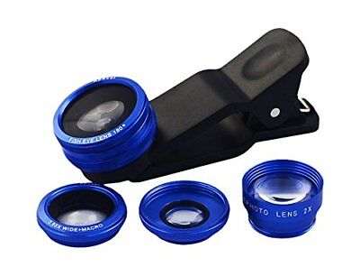 Apexel Universal 4 in 1 Mobile Phone Camera Lens Kit 2x Telescope lens+180 Fish