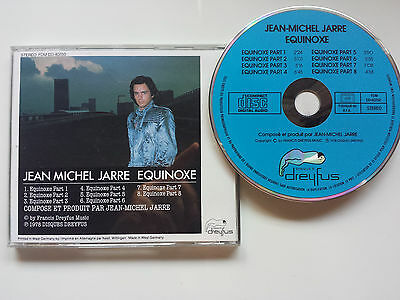 "Jean Michel Jarre ""equinoxe"" Blue Face Cd Made In R.f.a By Dreyfus / Best Sound!"