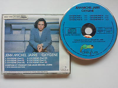 "Jean Michel Jarre ""oxygene"" Blue Face Cd Made In R.f.a By Dreyfus / Best Sound!"