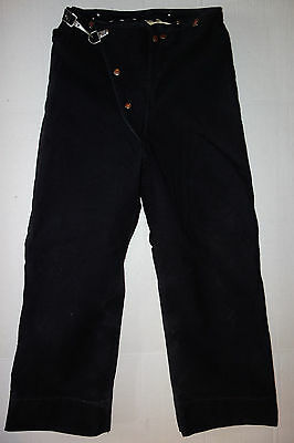 "Globe Fireman Turnout Pants Mens Black Lined 30"" waist"
