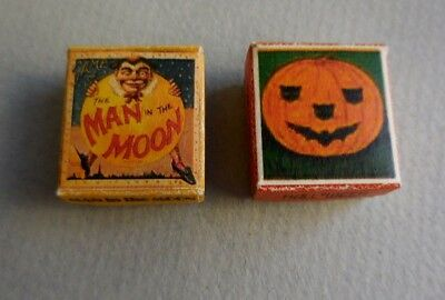 Dollhouse Miniature ~ Halloween Pumpkin ^ Man In The Moon Game Box
