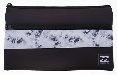 Brand New + Tag Billabong 'jumbo' Large Neoprene Pencil Case Black / White