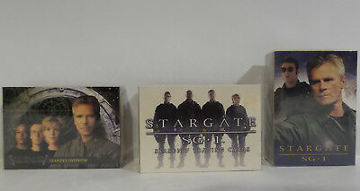 Stargate : Set Of 3 Trading Card Sets - Season 1, 7 & One Other (Tk)