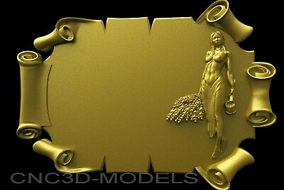 3D Model STL for CNC Router Engraver Carving Artcam Aspire Women Girl Pano v376