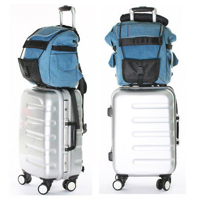 2 xAdd A Bag Strap Travel Luggage Suitcase Adjustable Belt Carry On Bungee Strap