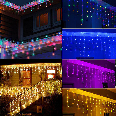NEW 3~15M 96~480 LED String Fairy Lights Xmas Party Icicle Curtain Light 220V