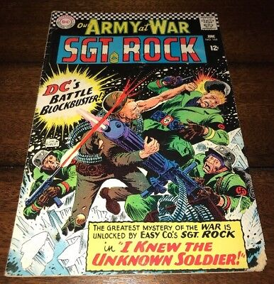 Our Army At War #168 1966 Joe Kubert Sgt. Rock 1st Unknown Soldier DC KEY Comic