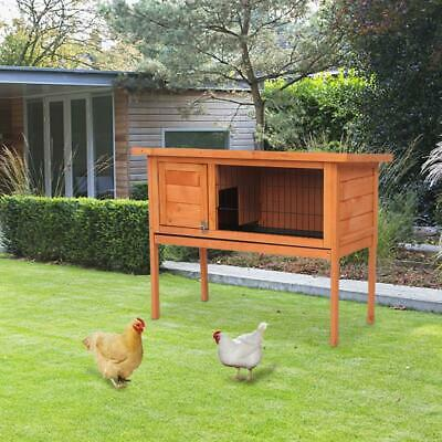 """36"""" Wooden Rabbit Bunny Pet Cage Small Animal House Chicken Coop Single Deck"""