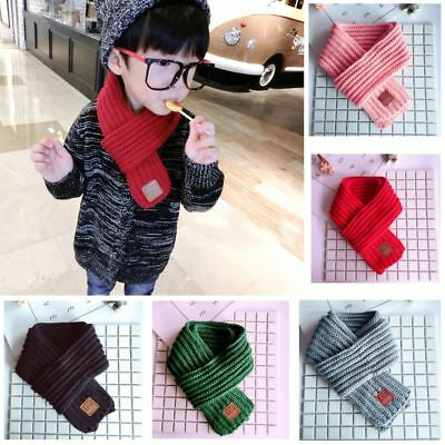 New Boy Girl Baby Winter Warm Color Scarf Knitting Wool Children Neck Warmer Hot