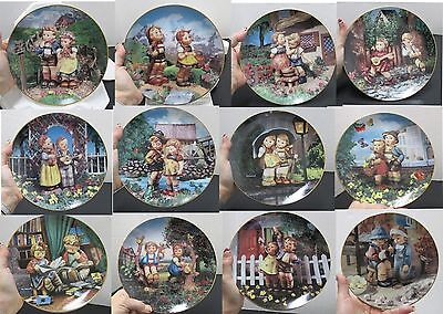 M.J. Hummel 12 Set of Plates Little Companions Collection Never used or display