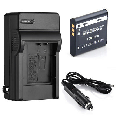 LI-50B Battery + Charger For OLYMPUS TG-820 iHS STYLUS Tough 6020 8000 u9010