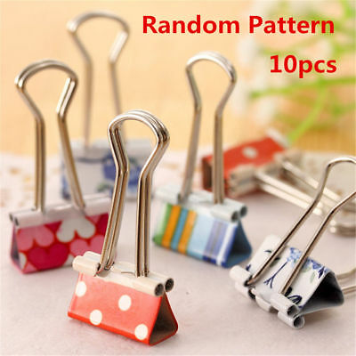 10/20/50pcs Colorful Metal Binder Paper File Clips Office School Home Supply