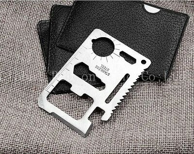 10 In 1 Credit Card Multi Tool Set Pocket Size Wallet Camping Hiking Accessory