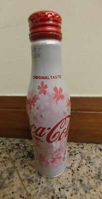 Rare Coca-Cola Japan Sakura 2017 Empty aluminum bottle.