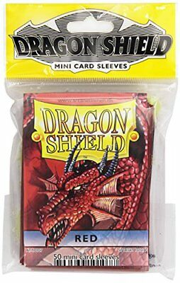 Dragon Shield Card Supplies YUGIOH Card Sleeves Red 50 Count