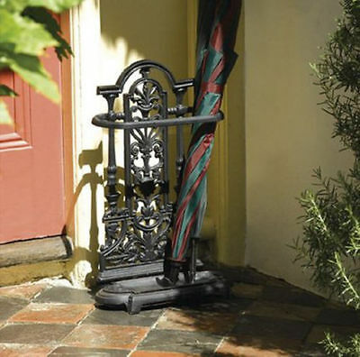 Antique Style Brown Vintage Cast Iron Umbrella Stand Walking Stick Stand New