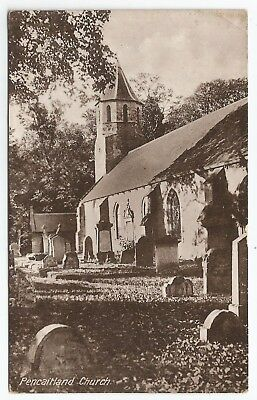 POSTCARDS-SCOTLAND-PENCAITLAND-PTD. The Parish Church.