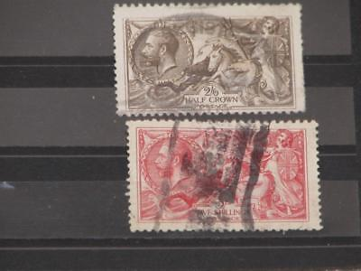 Great Britain, Seahorses Scott# 179, 180, used