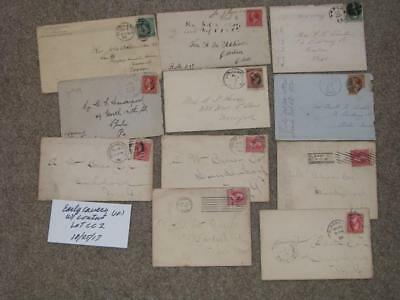 10 Early covers (late 1800`s- early 1900`s) all with contents, Lot# CC2