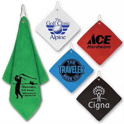MICROFIBER GOLF TOWELS - 150 quantity - Custom Printed with Your Logo
