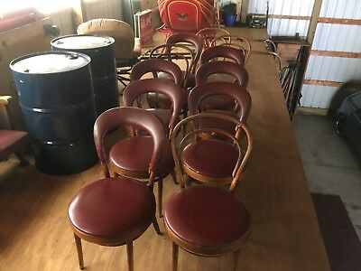 Bentwood cafe chairs [eleven in all]