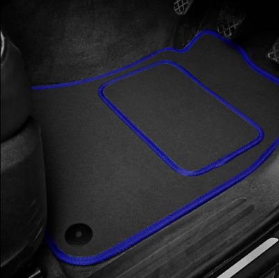 High Quality Car Floor Mats Set In Black/Blue To Fit MG Midget 1275 (1966-1974)
