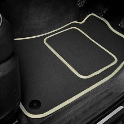 High Quality Car Floor Mats Set In Black/Beige To Fit MG Midget 1275 (1966-1974)