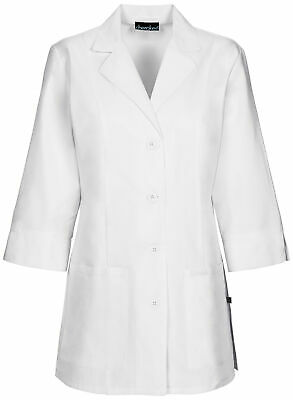 "Cherokee 1470A Women's 30"" 3/4 Sleeve Lab Coat Medical Uniforms Scrubs"