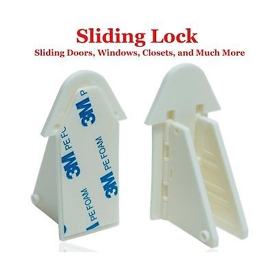Sliding Door Lock Keyless for Child/Baby Safety Proofing Windows Closets Show...