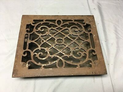 Antique Cast Iron Heat Grate Floor Vent Register Vtg Victorian Old 8x10 03-17B